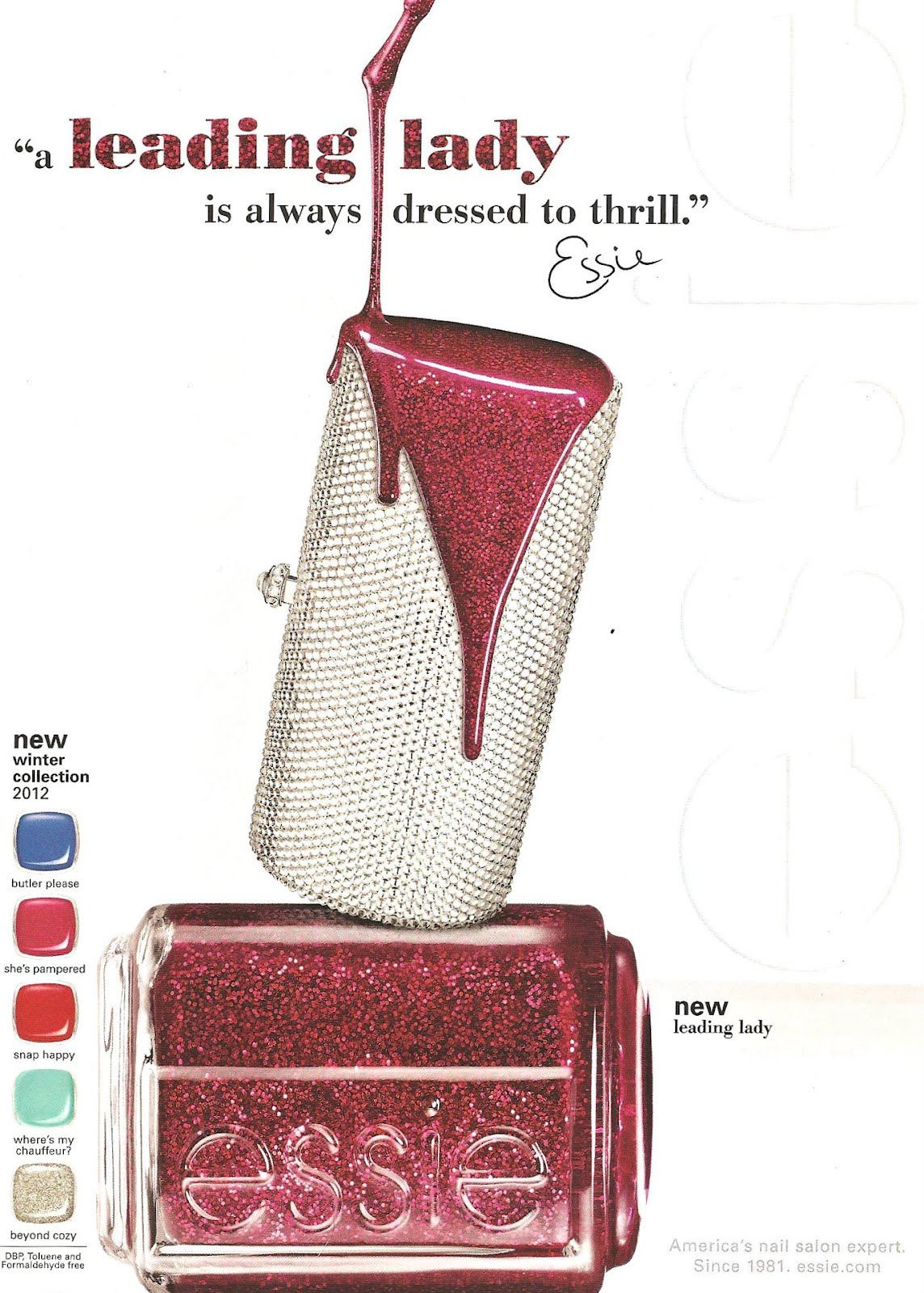 essie // winter collection 2012 | the model nail files